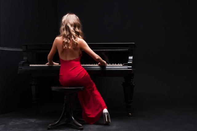 sexy-Music-Girls-back-in-red-dress-playing-piano-KD038-living-room-home-wall-modern-art.jpg_640x640